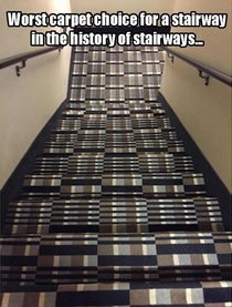 Words carpet choice for a stairway in the history of stairways