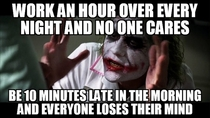 Work - and dont get paid for overtime