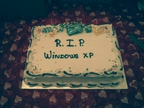 Working with the IT team really has its perks One of our staff brought this in and even delivered a eulogy