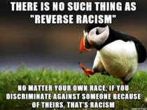Wouldnt reverse racism be the absence of racism