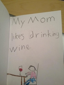 Write once sentence about a family member and draw a picture about it