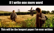 Writing the final paper for one of my classes