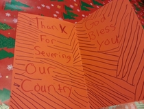 Xmas card I got today Im in the Army