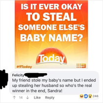 Yeah Sandra karma is a bitch