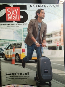 Yeah Skymall that dude looks fly