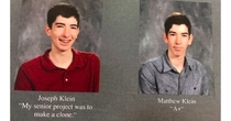 Yearbook quote level Fred and George Weasley