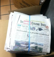 Yesterday at my McDonalds the owner asked us to throw away all these free newspapers