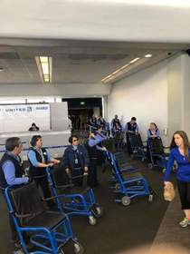 Yesterday in San Francisco this greeting awaited a deaf track and field team The airline said the passengers were disabled