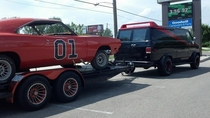 You know the Duke Boys are in trouble when The A-Team is towing their ride