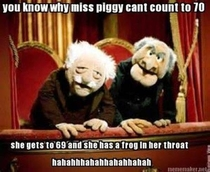 You know why Miss Piggy Cant count to
