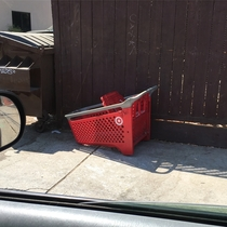 You know youre in a rough neighborhood when even the shopping carts get their wheels stolen