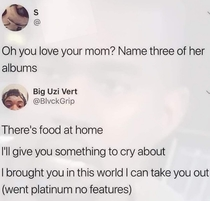 You love your mom