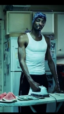 You may be cool but youll never be snoop dogg ironing money and watermelon