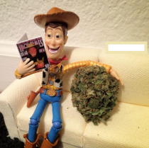You may be high but youll never be Woody with a tumbleweed-sized nug high