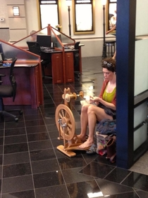 You might be a hipster but youll never be a hipster spinning thread a a BMW Service waiting room