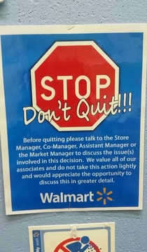 You might work at Wal-mart if