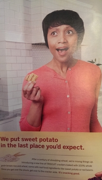 You put sweet potato where