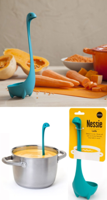 Youll never feel lonely in the kitchen again when you have a little Nessie scoop for your soup