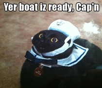 Your boat is ready captain
