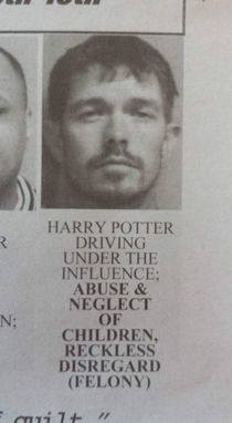 Youre a criminal Harry