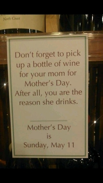 Youre the reason your mother drinks