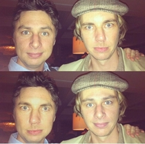 Zach Braff shared this faceswap of himself and Dax Shepard on Twitter